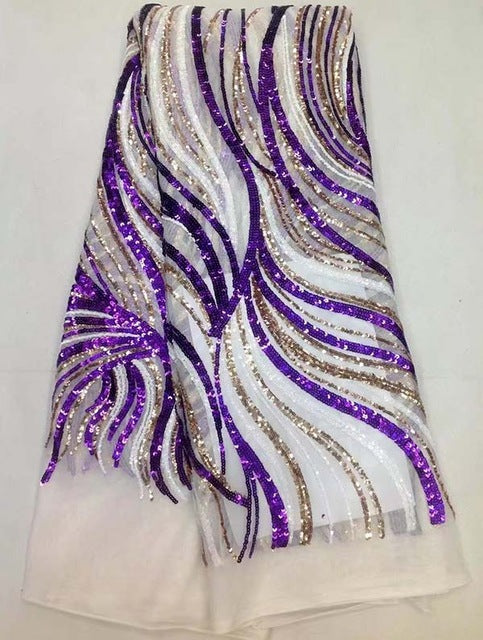 new fashion African net lace with sequins,top quality embroidered French lace fabric for party dress!