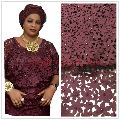 Image of African lace fabric 5yds/pce by dhl laser cut with stones for women party dresses 2017 new arrival high quality nigerian fabrics