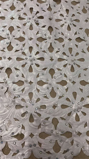 New latest nigerian french laser cut lace fabric Embroidered High Quality African Lace Fabric 2018 Lace Fabric For Party