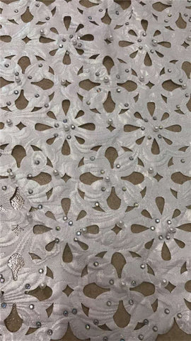 Image of New latest nigerian french laser cut lace fabric Embroidered High Quality African Lace Fabric 2018 Lace Fabric For Party