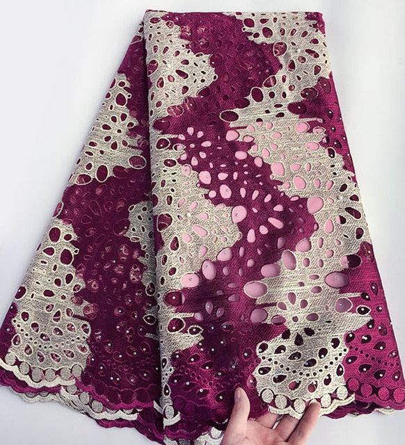 5 yards 2 tunes African tulle lace french lace fabric matching Aso Oke headtie gele headgear high quality Hot sale