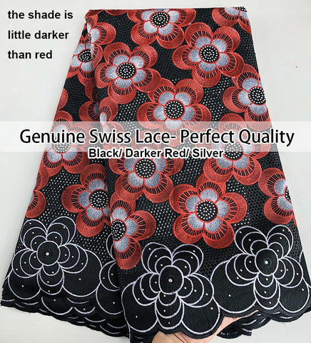 Image of Super Soft Genuine Swiss Voile Lace neat eyelet embroidery African lace fabric big heavy high quality 5 yards Good choice
