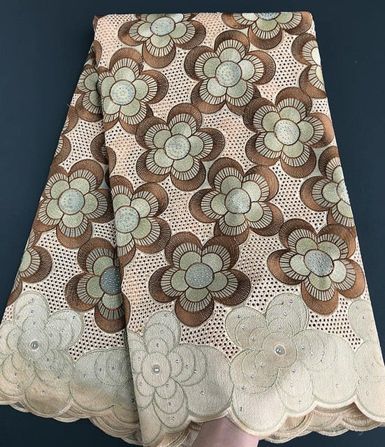 Super Soft Genuine Swiss Voile Lace neat eyelet embroidery African lace fabric big heavy high quality 5 yards Good choice