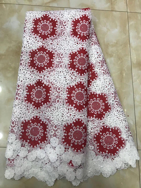 New Design African Swiss Voile Lace High Quality African Guipure Lace Fabric With Stones Embroidered Lace Fabric For PartyYY902B