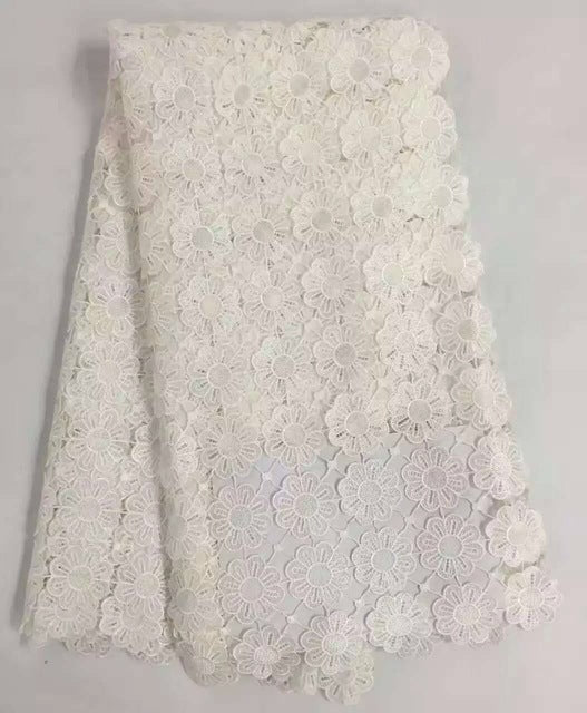 Soft Navy African Lace Fabric For Wedding Dress Lace African Guipure Lace Fabric 2017 African Cord Lace Latest KRA958