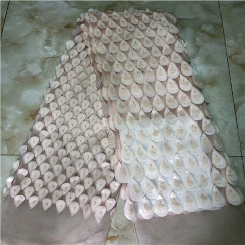 Image of 2018 Latest Nigerian Laces Fabrics  High Quality Tulle African Laces Fabric Wedding African French Tulle Lace F68-2