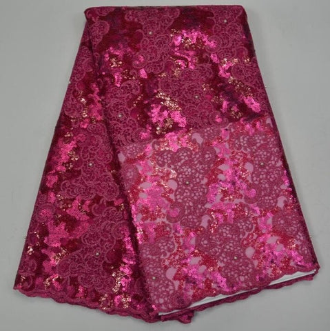 Image of Handcut organza lace wedding Swiss African lace fabric with metallic lurex 5 yards many colors available TS6986