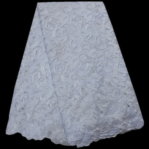 Image of High Quality Swiss Voile Lace 2018 African Lace Fabric African Swiss Cotton Voile Lace Fabric For Wedding or women ST309