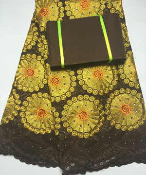 Free Shipping !!! high quality african swiss voile lace matching aso oke headtie / fabric for wedding dress lace NB1666
