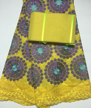Free Shipping !!! high quality african swiss voile lace matching aso oke h