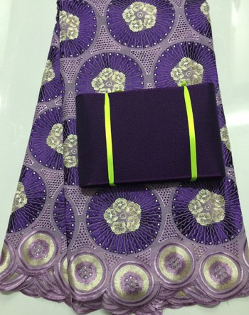 Free Shipping !!! high quality african swiss voile lace high quality for wedding matching aso-oke headtie NAX004 PURPLE