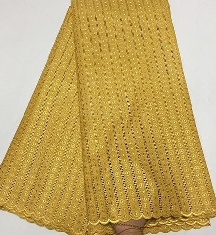 Image of Gold Nigerian Lace fabrics 2018 African Swiss Voile Lace High Quality Swiss Voile Lace in Switzerland For Wedding