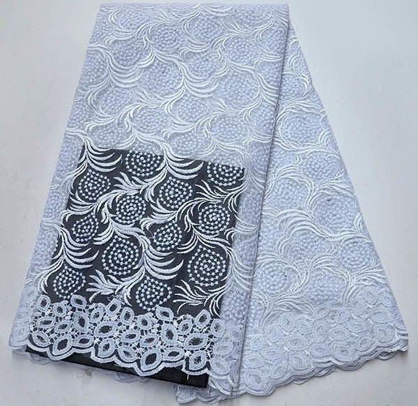 White Color French embroidered Lace Material African french tulle lace fabrics With Stones For Nigerian Wedding dress