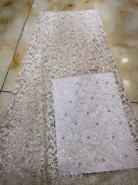 Best Selling Swiss voile laces African Lace Fabric White Nigerian French lace Fabric 2018 Sequins African Tulle Lace Fabric AFFJ