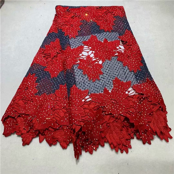 African Lace Fabric 2019 New Design African Guipure Cord Lace High Quality African Swiss Voile Lace 5 Yards For Wedding Dresses