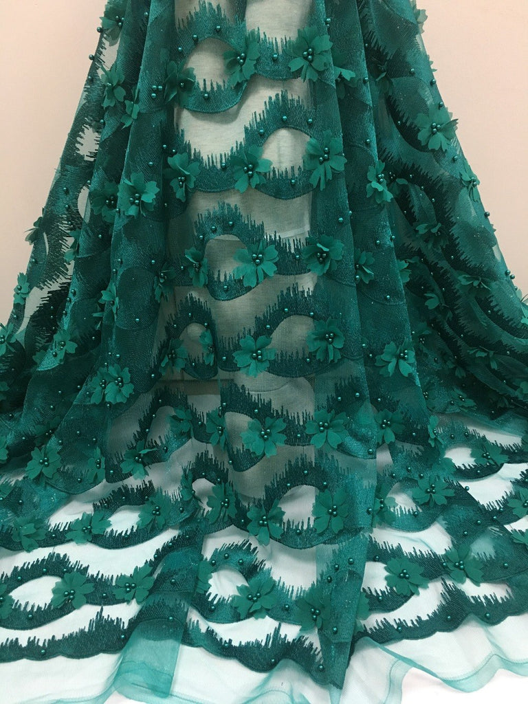 2018 fashion design African Lace fabric.High Quality Bride series French tulle Lace with Small Flowers for party dress.5yards