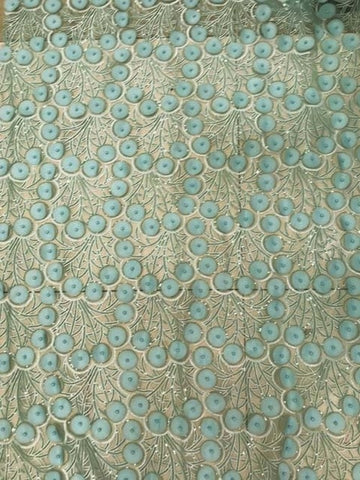 Image of Lace Fabric With Beads Sewing Material 5yard African Lace Fabric 2018 High Quality 3d Flower Fabric With Beads