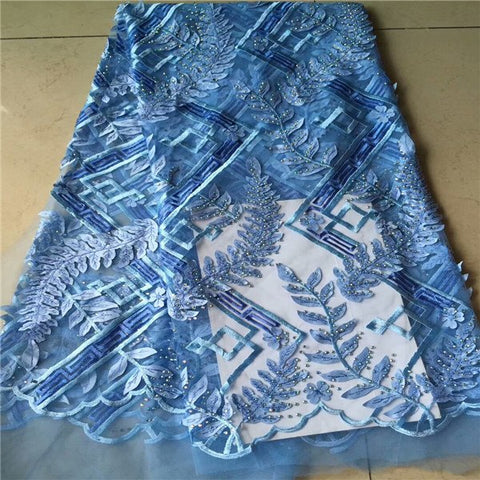 Image of African Lace Fabric 2018 High Quality Lace Embroidery French Mesh With Stone Nigerian Lace Fabrics Material RF62