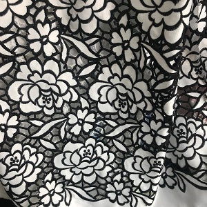 Image of new African velvet lace fabric, beautiful 3d flower laser beaded embroidery pattern, designed the Nigerian velvet silk fabric 5Y