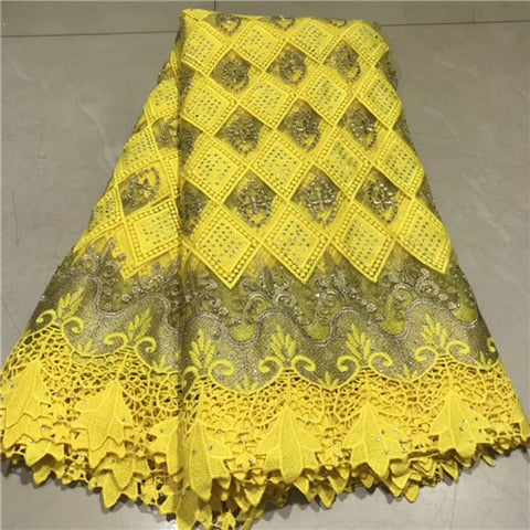 Image of stones French Net Lace Fabric 2019 Latest African Guipure Lace Fabric With Embroidery Mesh Tulle  Cord  Lace     NLYJUL202