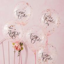 Ginger Ray Team Bride Confetti Balloons Pack of 5