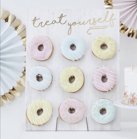 Pastel donut wall