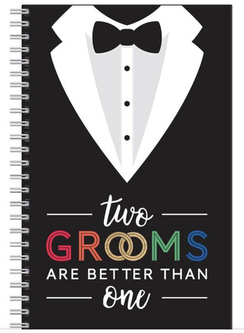 Two grooms notepad