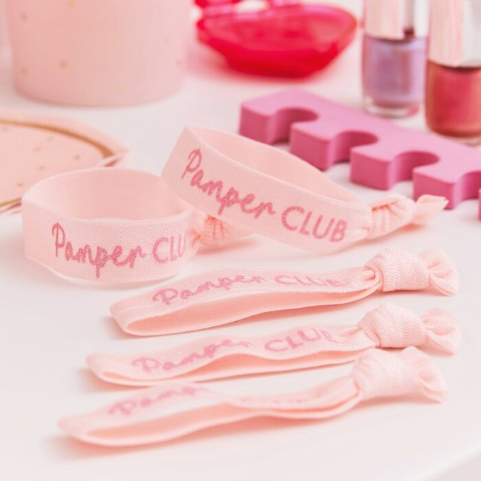 Ginger Ray Pink Glitter Pamper Club Party Bands