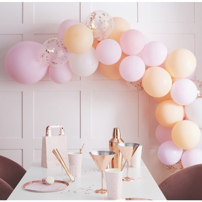 Ginger Ray Matte Peach And Pink Hen Party Balloon Arch Garland