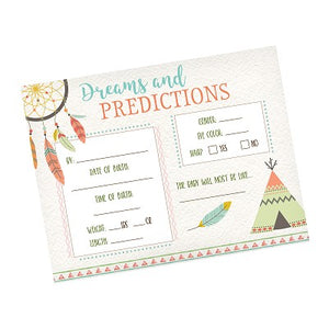 Lillian Rose Boho Baby Shower Predictions Cards