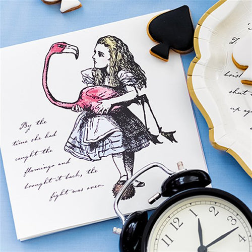 Truly Alice in Wonderland Paper Napkins Pack of 20