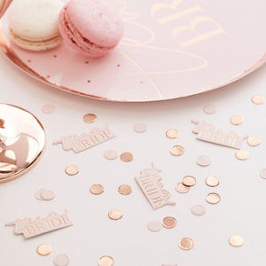 Ginger Ray Team Bride Blush And Rose Gold Hen Party Confetti