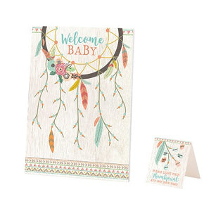 Lillian Rose Boho Baby Shower Guest Signing Canvas
