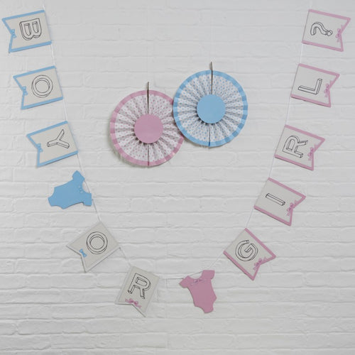 Ginger Ray Gender Reveal Boy or Girl Bunting