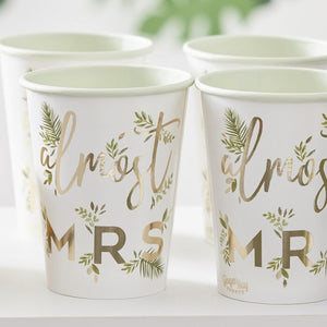Ginger Ray Gold Foiled Almost Mrs Paper Hen Party Cups