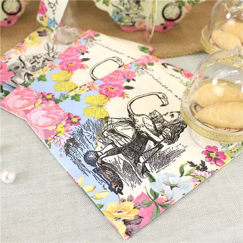 Truly Alice in Wonderland Pink Theme Paper Napkins Pack of 20