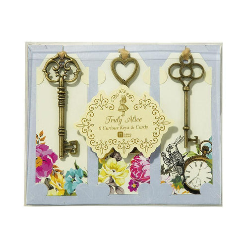 Truly Alice in Wonderland Curious Keys & Tags Set of 6