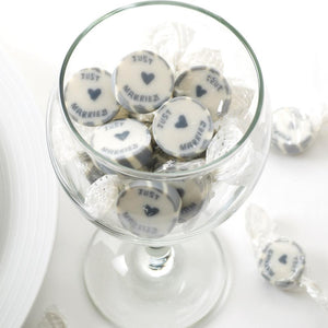 Just Married Silver Rock Sweets Pack of 50