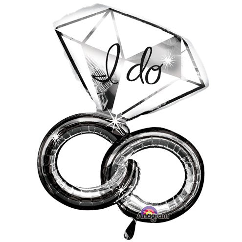 I Do Wedding Rings Super Shape Balloon - 30