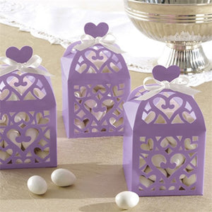 Lilac Lantern Wedding Favour Boxes Pack of 50