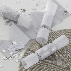 Ginger Ray Silver Confetti Filled Crackers
