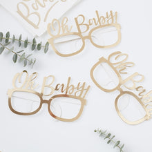 Load image into Gallery viewer, Ginger Ray Gold foiled oh baby! Fun glasses Pack of 8