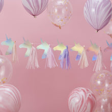 Load image into Gallery viewer, Ginger Ray Iridescent Unicorn Tassel Garland