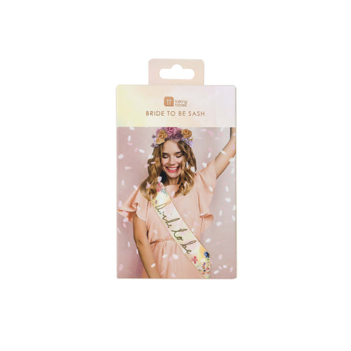 Talking Tables Blossom Girls Bride To Be Sash