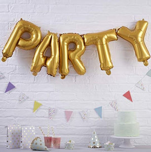 Ginger Ray Gold Party Balloon Bunting