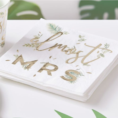 Ginger Ray Gold Foiled Almost Mrs Hen Party Napkins