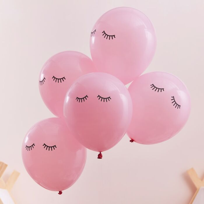 Ginger Ray Pink Sleepy Eyes Pamper Party Balloons