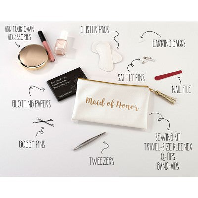 Lillian Rose Maid of Honor Gold Wedding Day Survival Kit