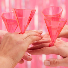 Load image into Gallery viewer, Ginger Ray Pink Ring Party Shot Glasses Pack of 6