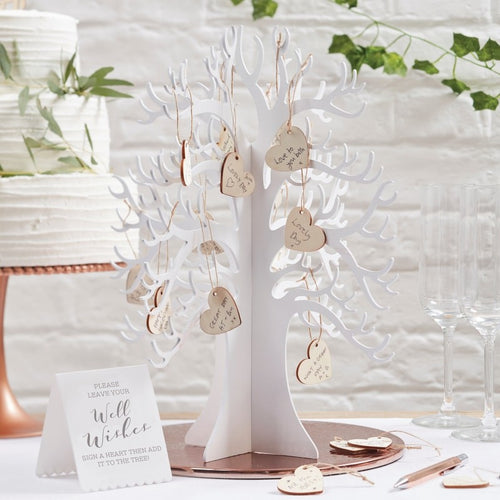 Ginger Ray Wooden Wishing Tree Guest Book Alternative